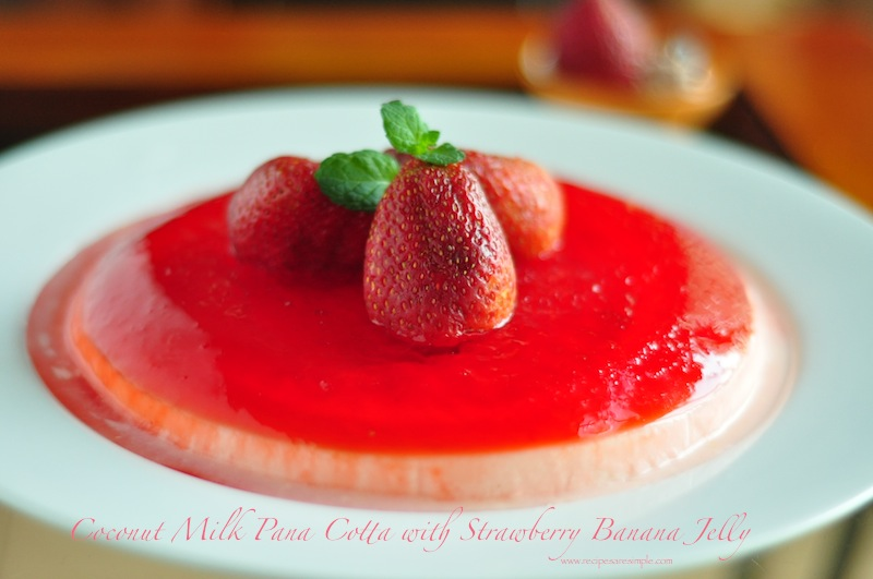 Coconut Milk Pana Cotta with Jelly Recipe