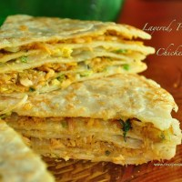 layered chicken pie- chatti pathiri