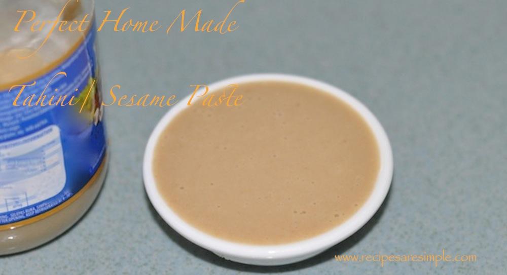 Perfectly Simple Home Made Tahini Paste