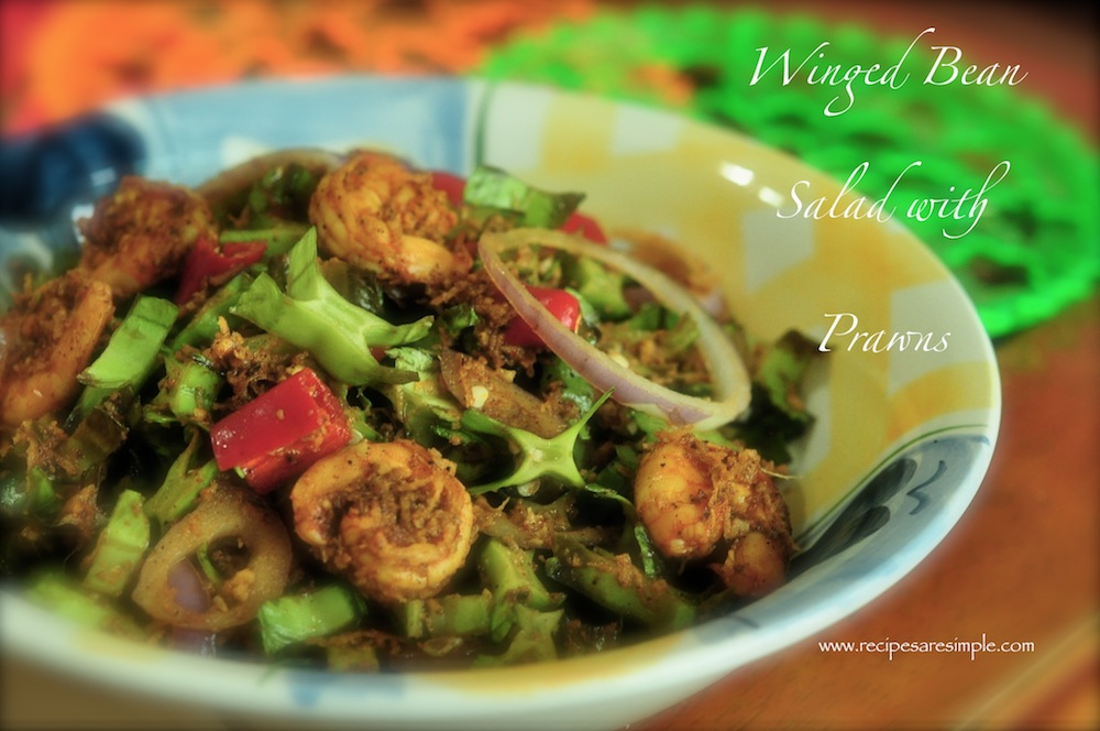 winged bean salad with prawn