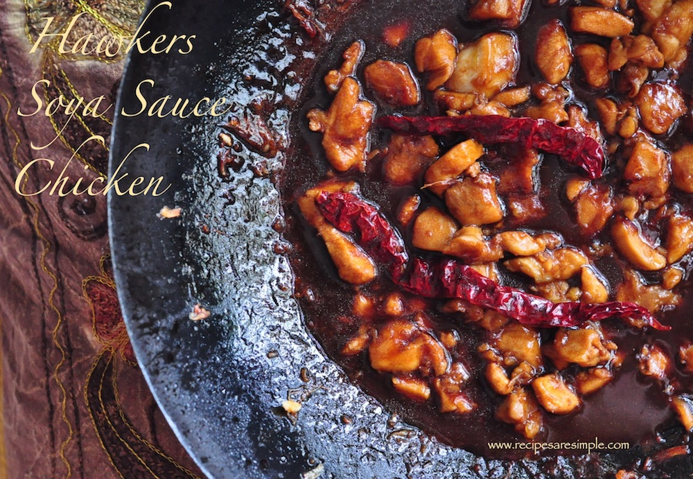 Singapore Hawkers Style Soya Sauce Chicken