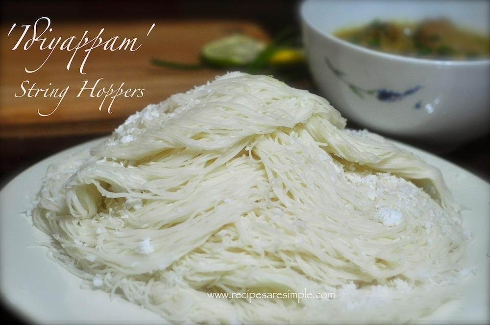 How to make Idiyappam - String Hoppers - Rice Flour Steamed Noodle