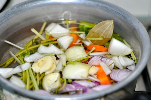 bring ingredients to a boil