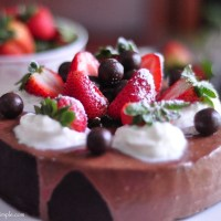 moist chocolate cake with quick decoration