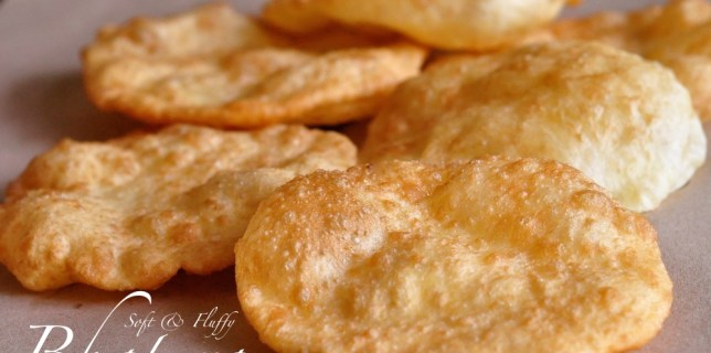 Soft Fluffy Bhatura - Indian Puffed Bread using Yeast