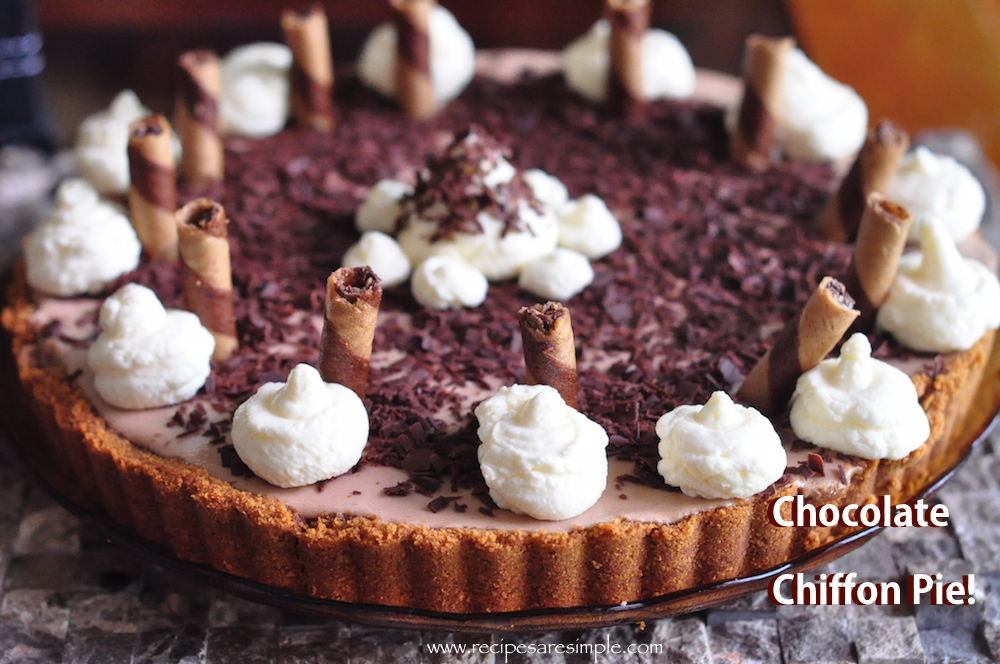 Chocolate Chiffon Pie – Silky and Light Mousse Pie
