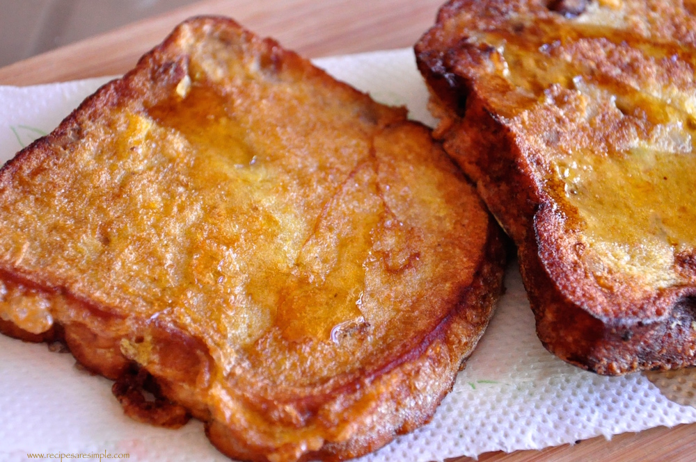 Ingredients: The Banana Bread French Toast can be made with milk or ...