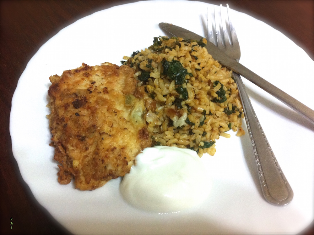 KALE FRIED RICE WITH CHICKEN