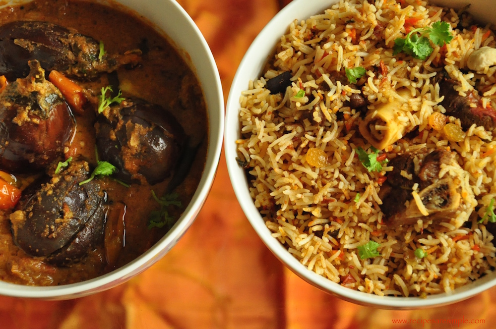 brinjal curry for ambur biryani : arkot biryani
