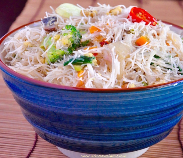 bee hoon breakfast recipe