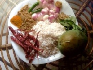 Nadan Varal Curry ingredients