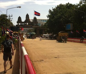 Entering the Wild West, the Kingdom of Cambodia, from Thailand.
