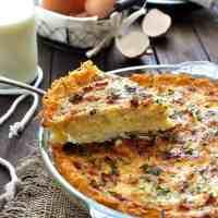 Hash Brown Crust Quiche Lorraine