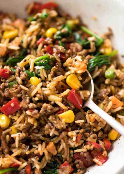 Medium Of Ground Beef And Rice Recipes Skillet
