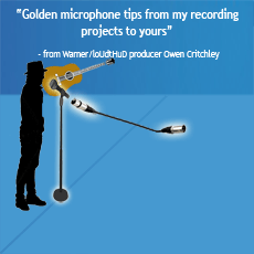 Where to place microphones for recording