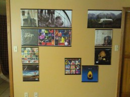 Pearl Jam vinyl record display