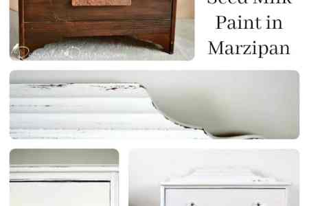 Before After Miss Mus Seed Milk Paint Marzipan Vintage Dresser Recreateddesigns
