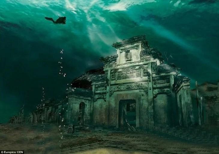 miasto na dnie morza w Shicheng, Chiny