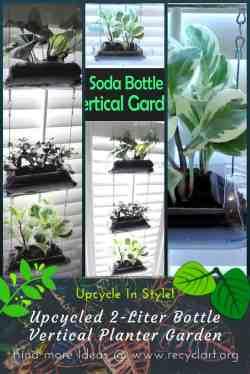 Small Of Soda Bottle Vertical Garden