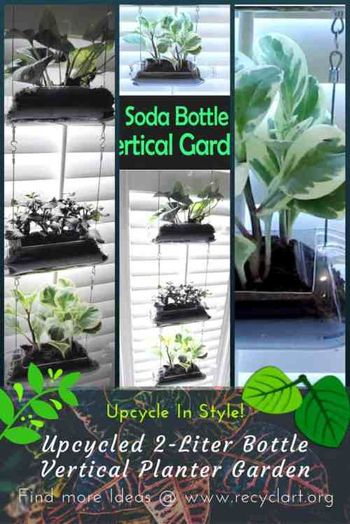 Considerable Diy Video Upcycled Soda Bottle Vertical Garden Recyclart Soda Bottle Vertical Garden