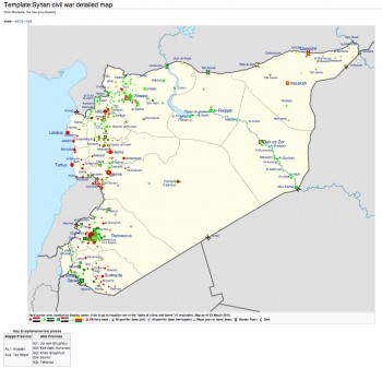 Syria, civil war, map