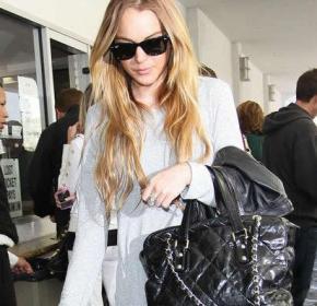 lindsay lohan con borsa Chanel