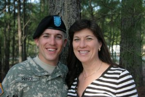 Soldier Taylor and Mom