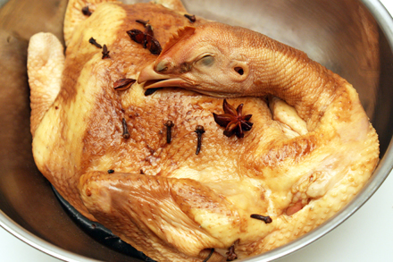 Marinating Beggar's Chicken