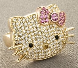 hellokittydiamondring small Hello Kitty Diamond Ring   cool street weird