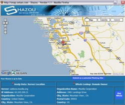shazou small Shazou for Firefox   instant location info for links and sites