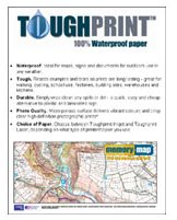toughprint Waterproof paper.