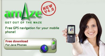 amazegps small AmAze   cool free GPS software for just about any mobile phone