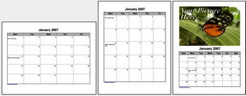 frecalendars small Free Calendars  online   download and print off free Microsoft Word calendars