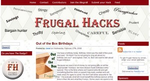 frugalhacks small Frugal living   how to live sensibly, responsibly and still have fun