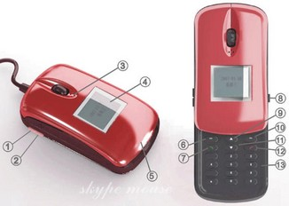 skypemousephone small Skype Mouse Phone   auto detecting device can tell when you want to talk or browse