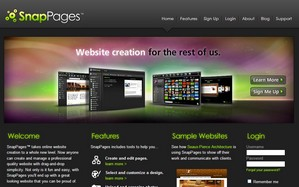 snappages small Snappages   free online website creator goes all beautiful Web 2.0 on our heads...