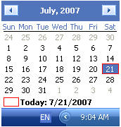 quickmonthcalendar Quick Month Calendar   add a tiny calendar to your task bar clock for free