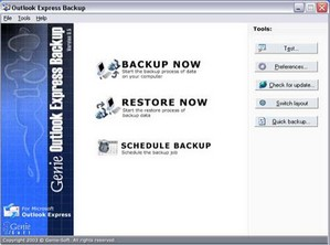 outlookexpressbackup small Outlook Express Backup Free   archive for nothing and your bits for free