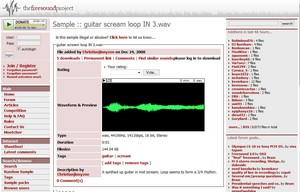 freesound small The Freesound Project   neat database of Creative Commons sounds