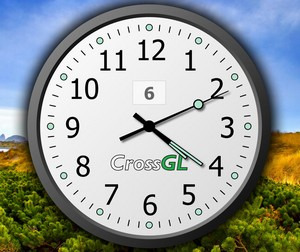 crossglsurfaceclock small1 CrossGL Surface Clock   gorgeous maxi clock for your desktop