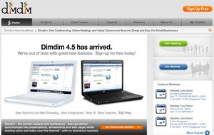 dimdim small DimDim   free open source web conferencing