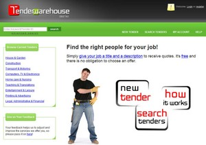 tenderwarehouse small TenderWarehouse   new job auction service makes it easy to find local contractors