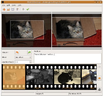 photofilmstrip small1 PhotoFilmStrip   freeware lets you create movies out of your photos