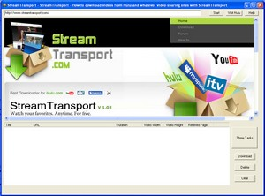 streamtransport small StreamTransport   freeware lets you download Hulu programs to watch at your leisure