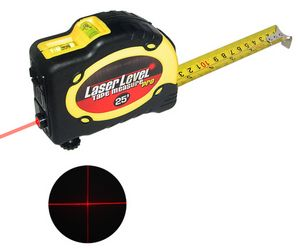 threeinonelaserlleveltapemeasure Laser Level Tape Measure   Straighten up and measure right