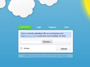 anyhub small AnyHub   cool free file upload and storage with no signup