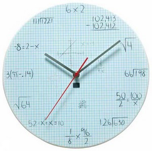 popquizclock small Pop Quiz Clock   test your maths skill from the kitchen wall