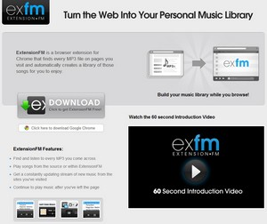 extensionfm small Extension FM   awesome Chrome extension automatically grabs MP3 playlists from the web