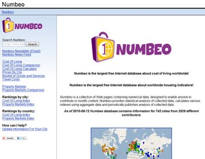 numbeo2 small Numbeo   compare your cost of living with other places around the world