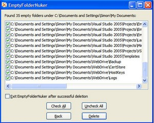 emptyfoldernuker small Empty Folder Nuker   freeware deletes your orphans before they delete you